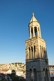 Church bell tower in hvar croatia — Stock Photo
