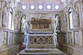Church interior at Trogir in Croatia - architecture religion bac — Stock Photo