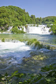 Waterfalls on Krka River. National Park, Dalmatia, Croatia — Stock Photo