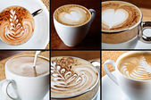 Cappuccino composition — Stock Photo