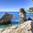 Stock Photo: Mediterrerocky beach in trieste italy
