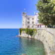 Beautiful white miramare castle in trieste italy - Foto de Stock