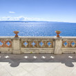 Balcony on the sea in miramare castle trieste - Stock Photo