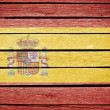 Spain, spanish flag painted on old wood plank background — Stock Photo