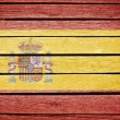 Royalty-Free Stock Photo: Spain, spanish flag painted on old wood plank background