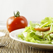 Fresh salad with chicken and tomatoes — Stock Photo #14535969