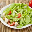 Fresh salad with chicken and tomatoes — Stock Photo #14536101