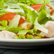 Fresh salad with chicken and tomatoes — Stock Photo #14536133