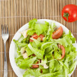 Fresh salad with chicken and tomatoes — Stock Photo #14536211