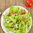 Fresh salad with chicken and tomatoes — Stock Photo #14536221