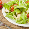 Stock Photo: Fresh salad with chicken and tomatoes