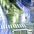 City's traffic lights at night — Stock Photo