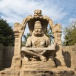 Statue of Lakshmi Narasimha, the fourth incarnation of Lord Vish - Stock Photo
