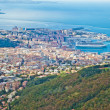 Panoramic view of trieste gulf, italy — Stock Photo
