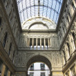 Gallery Umberto in Naples, Italy. Detail of the glass roof - Stock Photo
