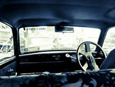 Inside of a taxi in india — Stockfoto