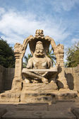 Statue of Lakshmi Narasimha, the fourth incarnation of Lord Vish — Stock Photo
