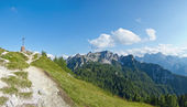 Beautiful panoramic view of mountains in friuli, italy — Stock Photo