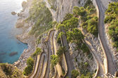 The beautiful Capri island, via Krupp — Stock Photo