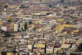 Aeriel scenic view of naples city in italy — Stock Photo