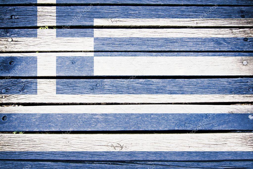 Antigua Grecia Bandera Grecia Bandera Griega Pintada