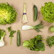 Stock Photo: Green vegetables composition