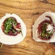 Stock Photo: Bresaola wrap sandwich