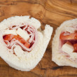 Bresaola wrap sandwich - Stock Photo