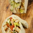 Chicken wrap sandwich — Stock Photo