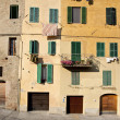 Old town in siena — Stock Photo