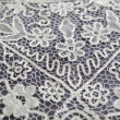 Vintage tablecloth lace detail — Stok fotoğraf