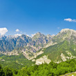 Stock Photo: Beautiful panoramic view of mountains in friuli, italy