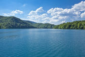 Plitvice lakes national park in Croatia, nature travel backgroun — Stock Photo