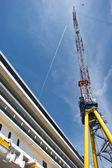 Cruise ship under constrruction in a shipyard — Stock Photo