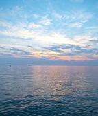 залив триеста на закате — Стоковое фото