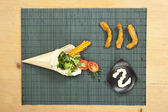 Chicken wrap ingredients — Stock Photo