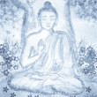 Drawing of meditating buddha -  