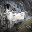 Predjama castle in the cave, slovenia — Foto Stock