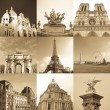 Paris collage — Stock Photo
