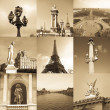 Paris collage - Foto Stock
