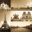 Paris collage - Stock Photo