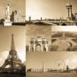 Paris collage - Stok fotoğraf