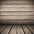 Stock Photo: Wooden planks interior background, wood floor and wall