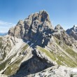 Beautiful scenic view of the dolomites mountain, monte duranno, italy — Stock Photo