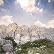 Beautiful scenic view of the dolomites mountain, italy — Stock Photo