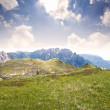 Beautiful scenic view of the dolomites mountain, italy — Stock Photo #28460619