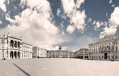 Scenic view of piazza unit d'italia in trieste, italy — Stock Photo