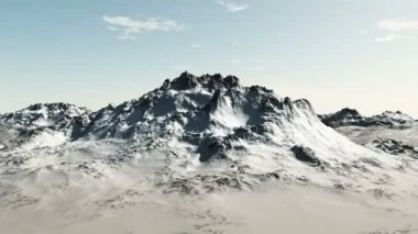 Mountain Snow Flight Animation CGI HD — Stock Video