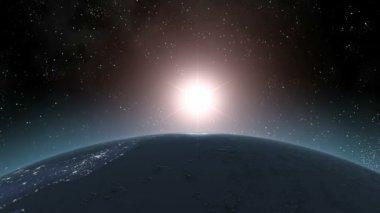 Earth (Highend) Sunrise Horizon Over MIddle America CGI HD — Stock Video