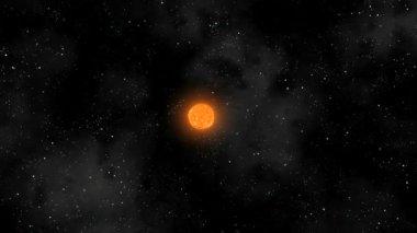 Sun Eruptions Oval Orbiting Loop CGI HD — Stock Video